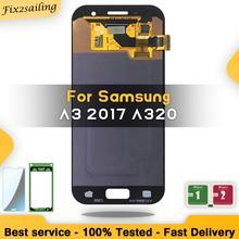 """4.7 """"سوبر AMOLED لسامسونج غالاكسي A3 2017 A320 SM A320F A320M DS A320Y LCD محول الأرقام بشاشة تعمل بلمس عرض"""