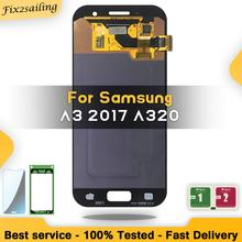 """4.7"""" Super AMOLED For SAMSUNG Galaxy A3 2017 A320 SM A320F A320M DS A320Y LCD Touch Screen Digitizer Display"""