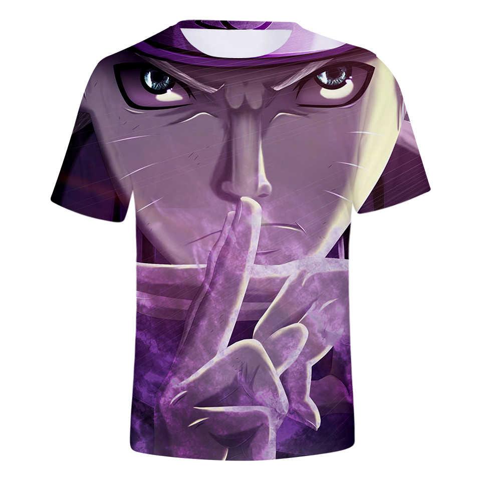 Лидер продаж Наруто комиксы Мужская 3D футболка/wo для мужчин летняя футболка мода мультфильм SASUKE kakashi 3D принт мужская одежда 4XL