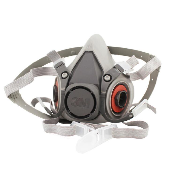 3 m respirateur 6200 pulvérisation peinture poussière, appliquer de protection masque, anti-poussière et anti formaldéhyde pesticides masque.