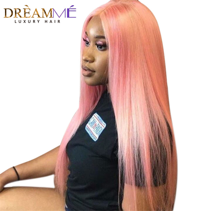 Dreaming Queen Hair Solid Pink Ombre Brasilian Straight Human Hair - Menneskehår (sort) - Foto 1