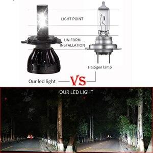 Image 2 - Super helle scheinwerfer H4 led h7 9005 HB3 D2S D2C Hallo Lo Strahl auto lampada scheinwerfer csp chip h7 led auto licht birne 12V 6000k 100W