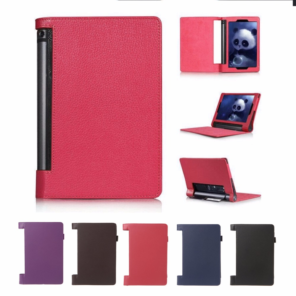 For Lenovo Yoga Tab 3 850F 8 Case Tablet PC Slim Synthetic Leather Folio Flip Cover Case 5 Colors C26 slim fit stand feature folio flip pu hybrid print case for lenovo tab 3 730f 730m 730x 7 inch