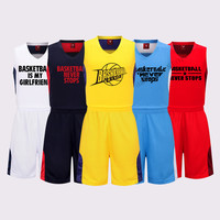 Adsmoney Brand Men USA Basketball Uniform Suits Sports Sportswear Team Training Basketball Sets Clothes Vest Sleeveless