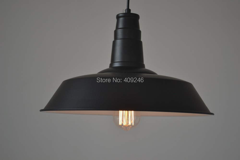 ФОТО 6PCS/LOT 36CM Edison RH Loft restaurant bar The Nordic country industrial Iron cover pendant Droplight Black or White