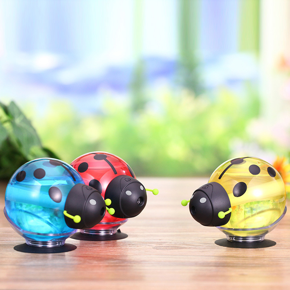 USB Beetle Night Light Mini Humidifier Air Purifier Fog Humidifier For Car,Home,Office etc. portable mini air humidifier purifier night light with usb for home office decorations