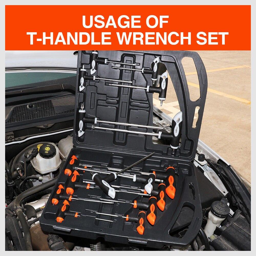 Купить с кэшбэком 16Pcs T Handle Set Torx Wrench Set Ball End Wrench Allen Wrench Hex Key Ball Universal Key Set Wrench Auto Repair Tools