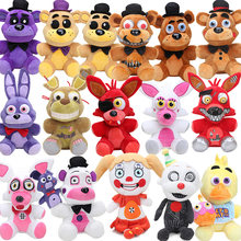 25cm FNAF Freddy Fazbear Plush Toys Five Nights At Freddy's Golden Bear Nightmare Cupcake Foxy Balloon Boy Clown Stuffed Dolls(China)