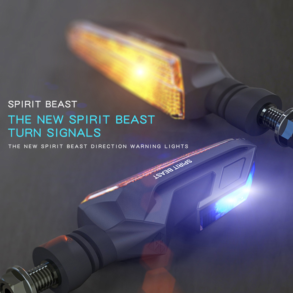 SPIRIT BEAST Turn Signal Motorcycle Led Indicators For Honda Goldwing Yamaha Fz8 Kawasaki Versys Z650 Suzuki Intruder Sv650 Bmw