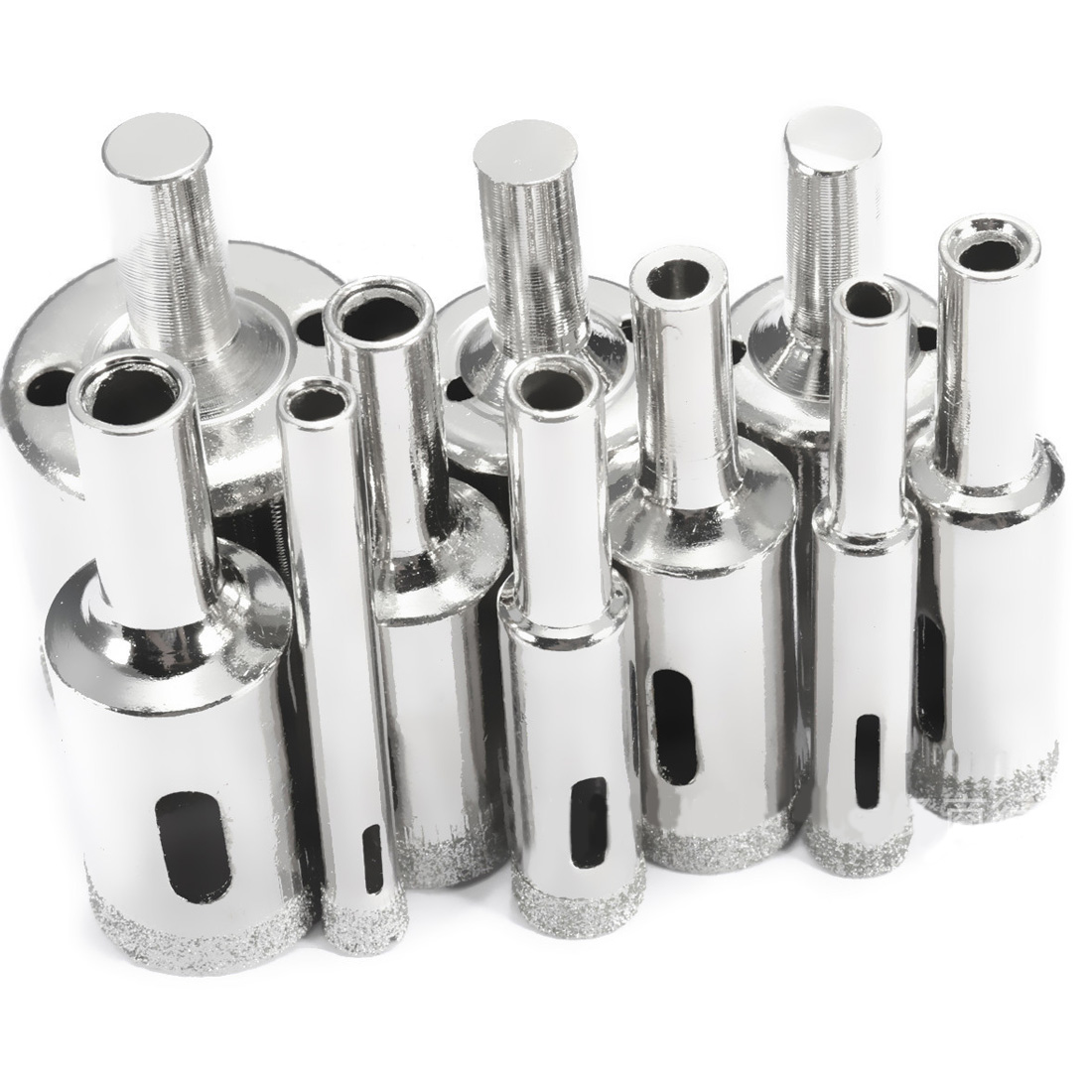 10 Pcs Diamond Drill Bit Set 6mm-30mm Diamond Coated Core Hole Saw Drill Bits Tool Cutter For Glass Marble Tile Granite Drilling