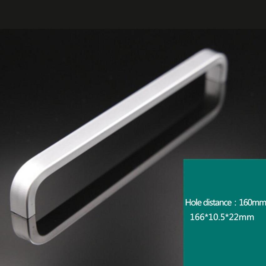 Дверные ручки простые выдвижные ящики для шкафа кухонные ручки и ручки для мебели ручки и ручки - Цвет: 160mm