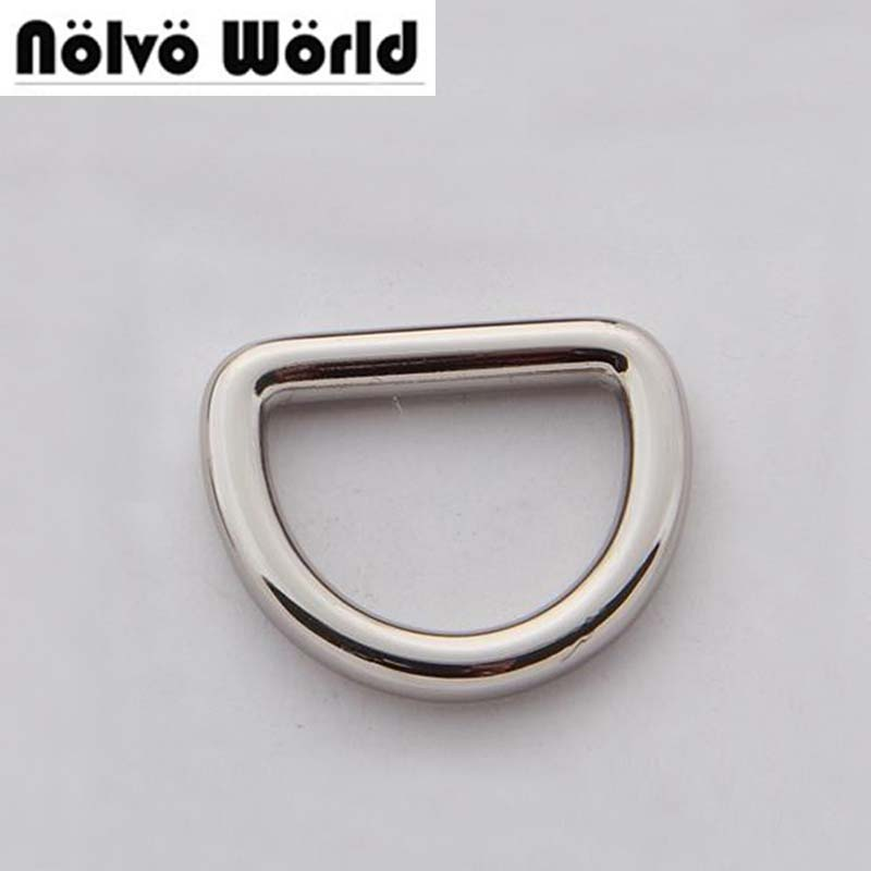 "20pcs wide 20mm (3/4"" inside) bags' alloy polished nickel welded metal dee ring,supply by Chinese Direct factory"