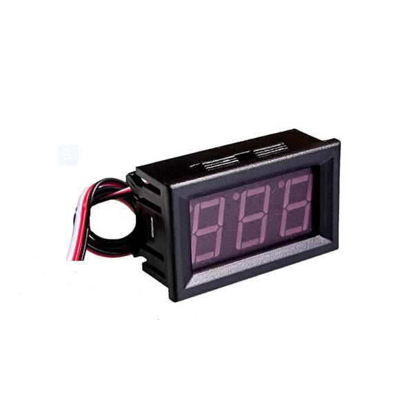 Three Line DC Voltage Head 0.56 Inch Red LED Digital Voltmeter DC 0V30.0V Counter Protection