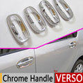 For Toyota Verso 2009-2016 Chrome Door Handle Covers Trim Set of 4Pcs for Sportsvan R20 Accessories  Car Styling