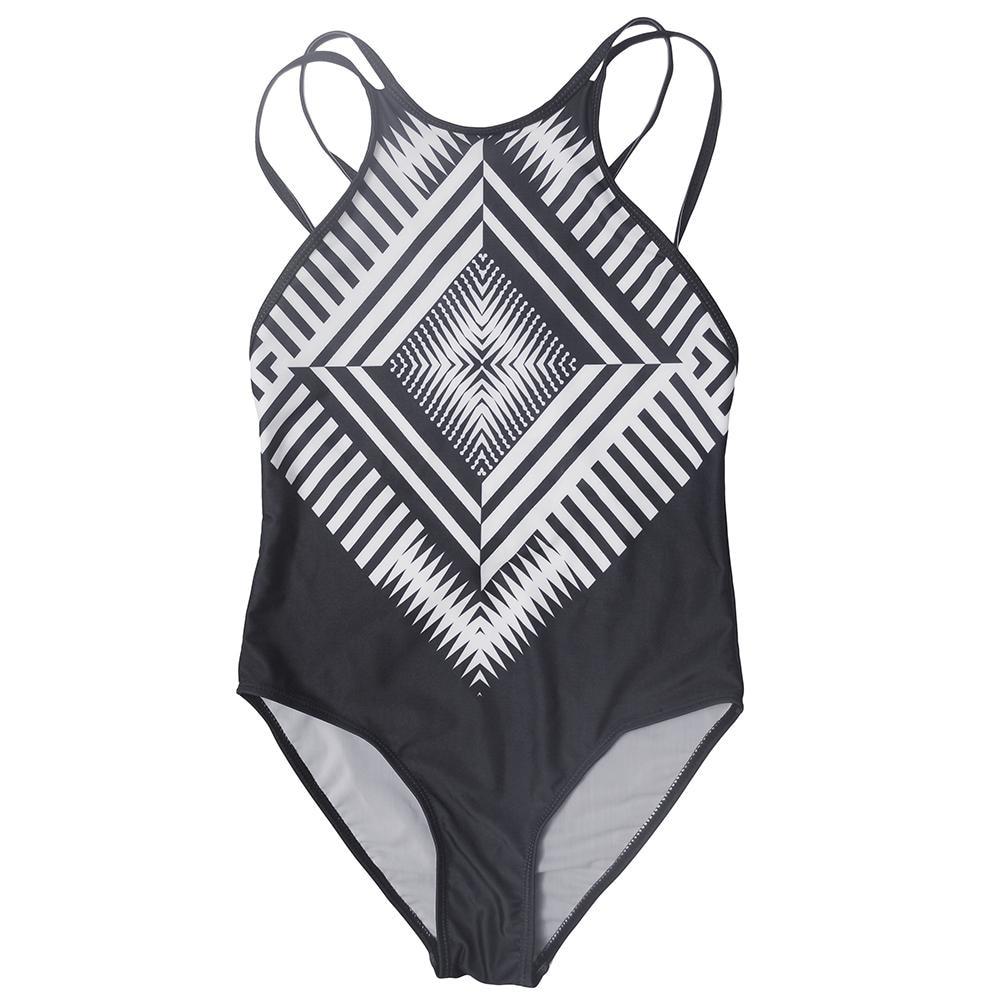 Thong Swimwear 2018 Monokini Swimsuit Striped Bikinis Women Tankinis Bathing Suit Cheap Sexy Halter Biquinis Brazilian