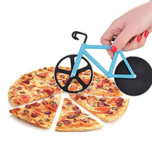 1Pc Pizza Cutter Bicycle Shape Stainless Steel Knife Pastry Wheel Roller Chopper Slicer Knives Kitchen Baking Tools