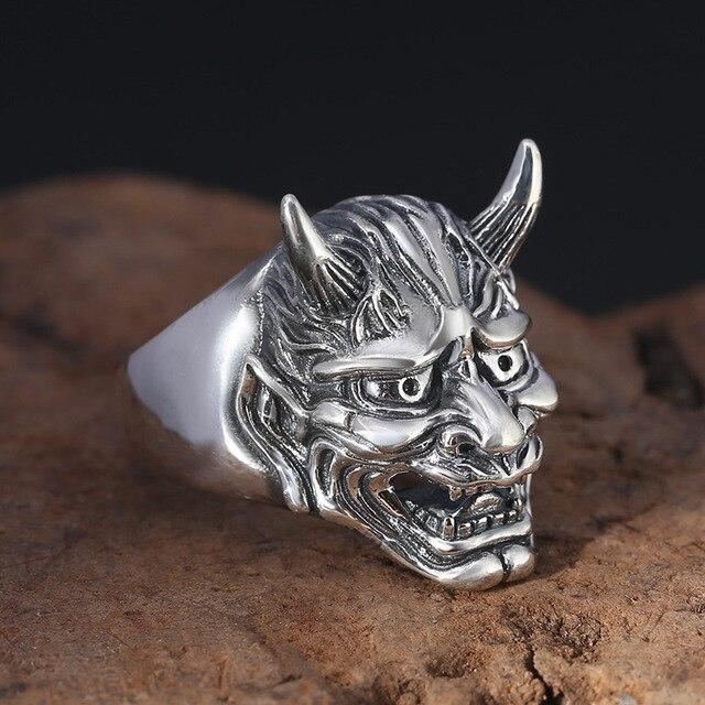 542d53a02167 Accesorios personalidad Gentleman plata tailandesa que restaura maneras  antiguas anillo prajnaparamita domineering de apertura