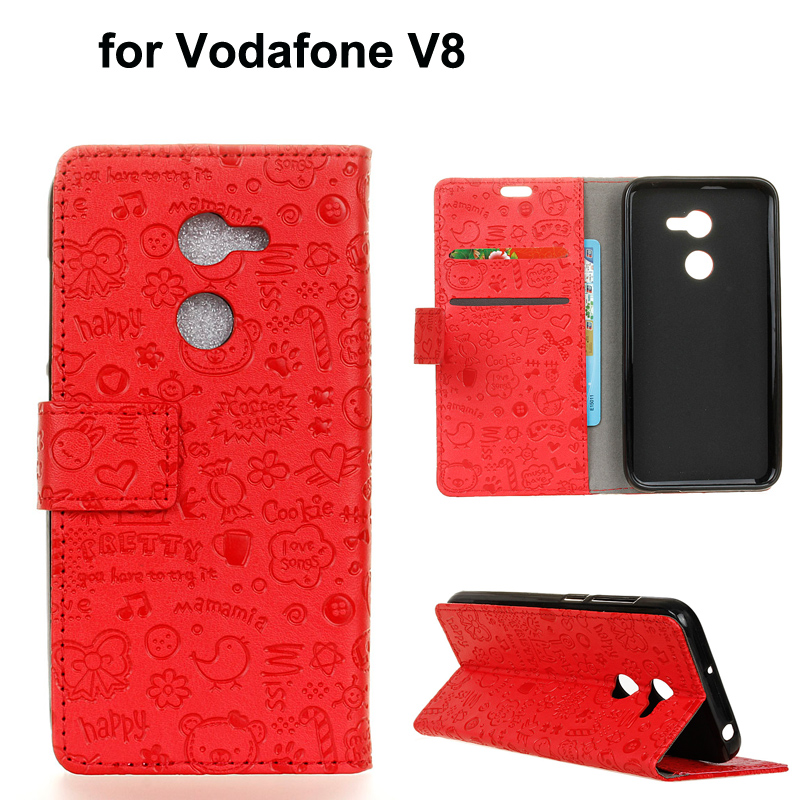 watch 2dfd9 e0b22 US $3.7 |For Vodafone Smart V8 cell phone cover funda cartoon magic girl pu  leather wallet case guard for Vodafone Smart N8-in Wallet Cases from ...