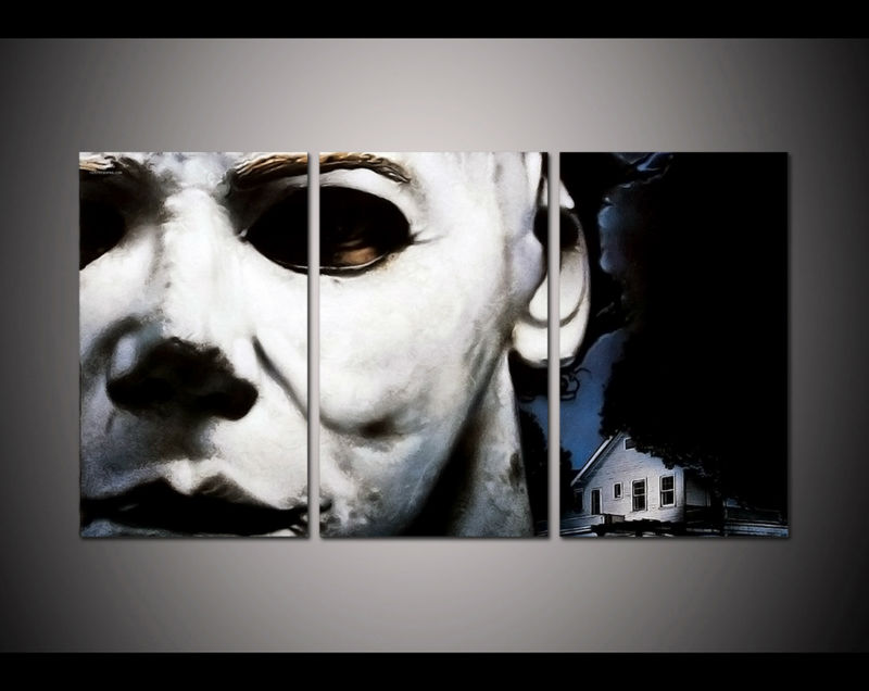 Print Framed Michael Myers Horror Picture Home Decor Wall Art Painting On Canvas