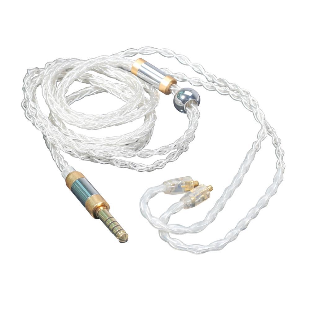 4.4 à MMCX équilibré câble casque 8-Core sans oxygène cuivre argent connecteur cordon