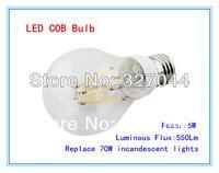 FREESHIPPING 10pcs Lot High Brightness 550lm Replace 70w E27 6W 7W Cob LED Bulb Lamp Cold