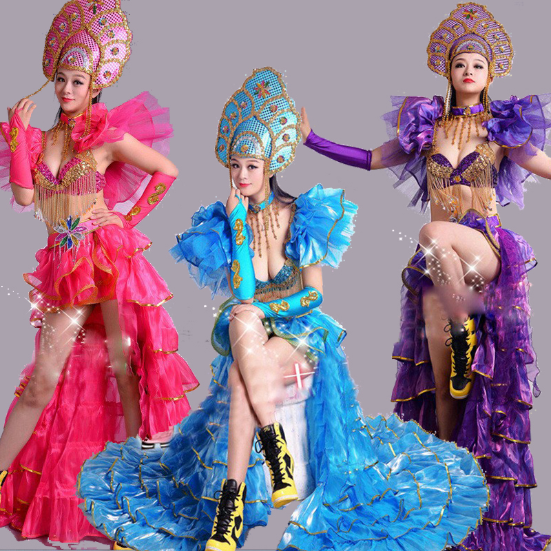 beautiful queen costumes for women festival dance clothing sexy dance costume princess dance costume