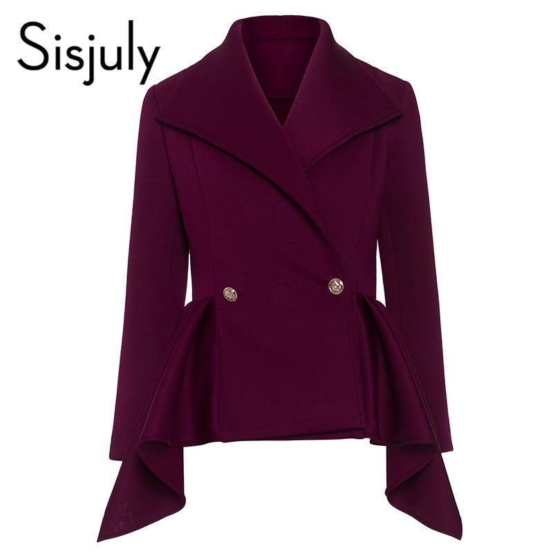 Sisjuly vintage coat long sleeve winter coat women slim plus size jacket for girls asymmetric length fall autumn outerwear 2018