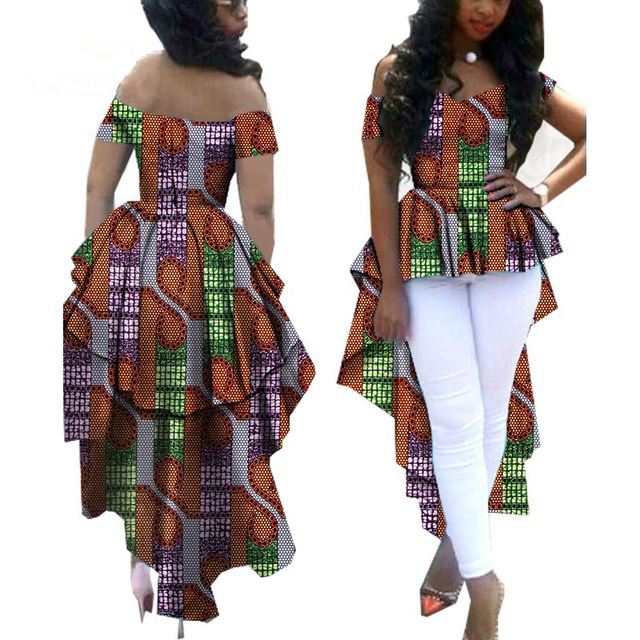 African Dresses for Women 2018 Kangga African Print Dresses Clothes Shoulder Coat Long Double Ankle Plus Size African Clothes
