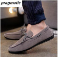 Korea style Spring Summer men's slip-on low top shoes mens suede drive shoes men loafers male casual flats shoes zapatos hombre
