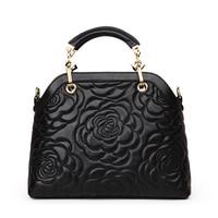 Famous Brand Classic Women Handbag Genuine Cow Leather Female Camellia Flower Crossbody Bags Fashion Tote Bag