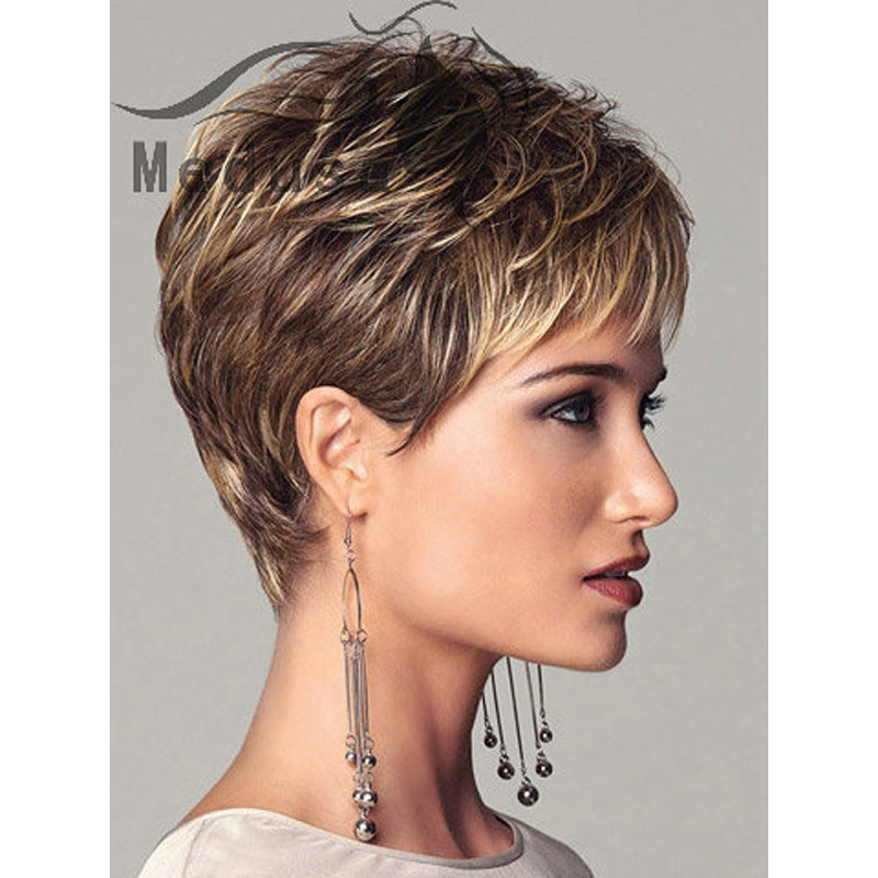 Medusa hair products Sassy Boy cut short pixie style wigs for women natural