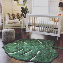Скандинавский Детский плюшевый ковер, хлопковый детский игровой коврик с листьями, игровой коврик для занятий, Детский развивающий коврик, домашний декор, детский коврик для комнаты, детские игрушки, одеяло