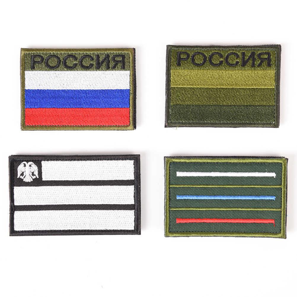 Rússia bandeira russa televisão bordado remendos bordado remendo prendedor emblema militar tático moral traje aplique