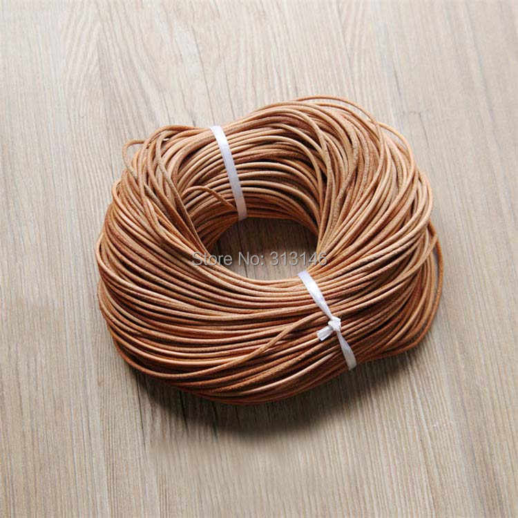 BROWN 100/% NATURAL 2mm LEATHER CORD THONG THREAD NECKLACE /& JEWELLERY