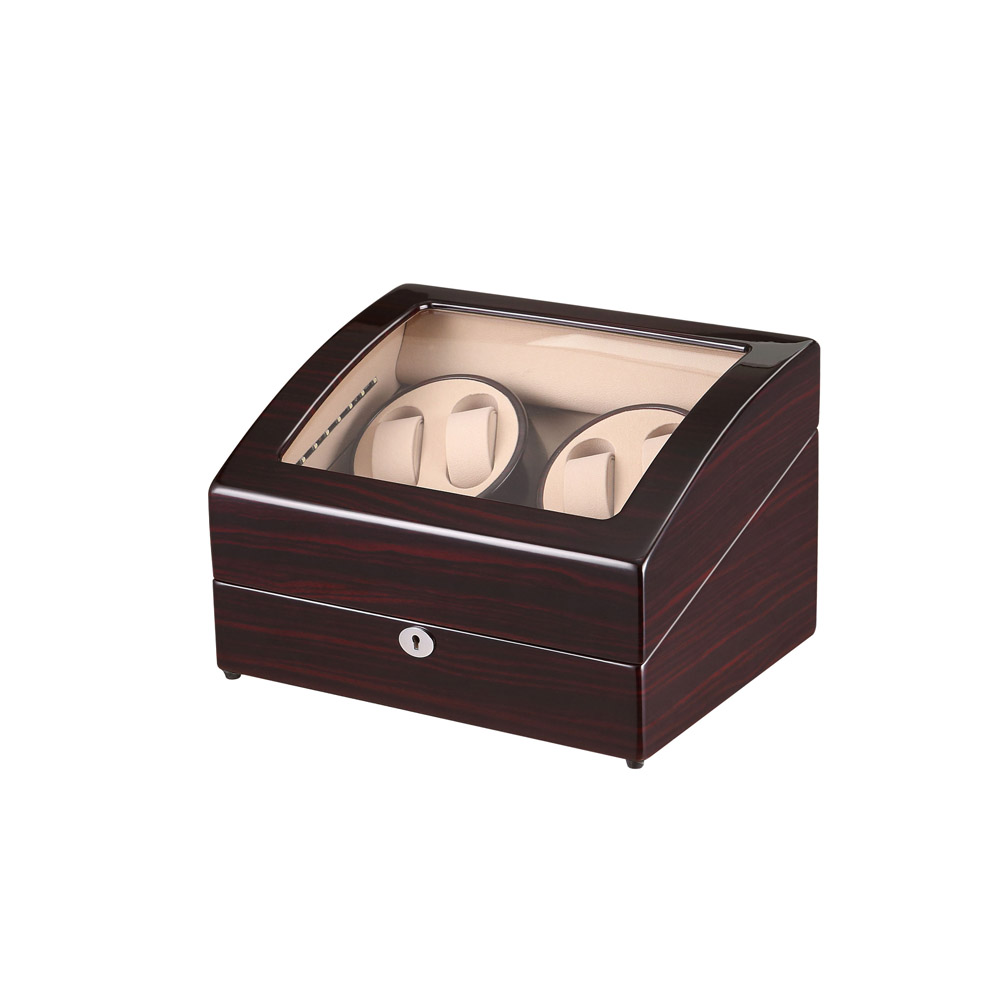 Watch Winder ,LT Wooden Automatic Rotation 4+6 Watch Winder Storage Case Display Box (Open the stop/ With LED Light) red wooden paint watch box pefect to storage watch case gift for watch lacquer boxes may custom logo factory supply