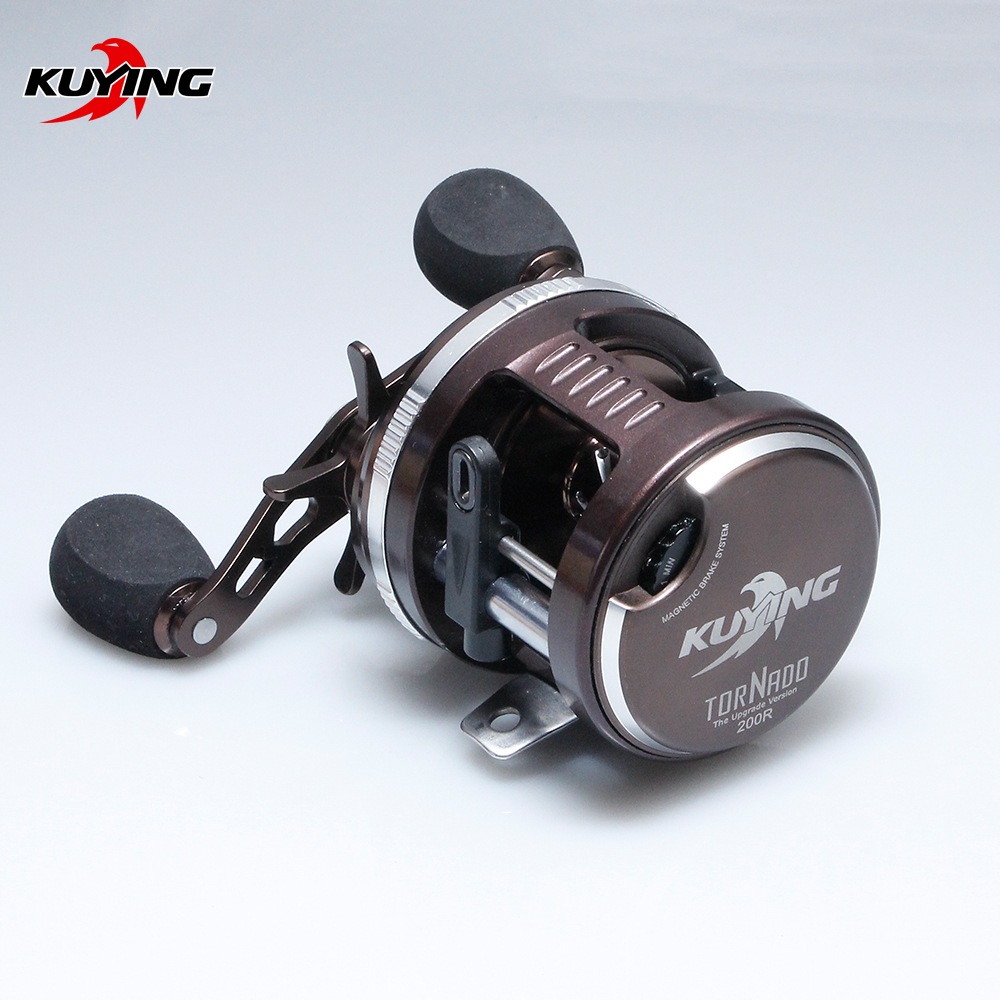 KUYING Tornado Left Right Handed Lure BaitCasting Casting Fishing Reel Vessel Drum Wheel Saltwater Fish Line