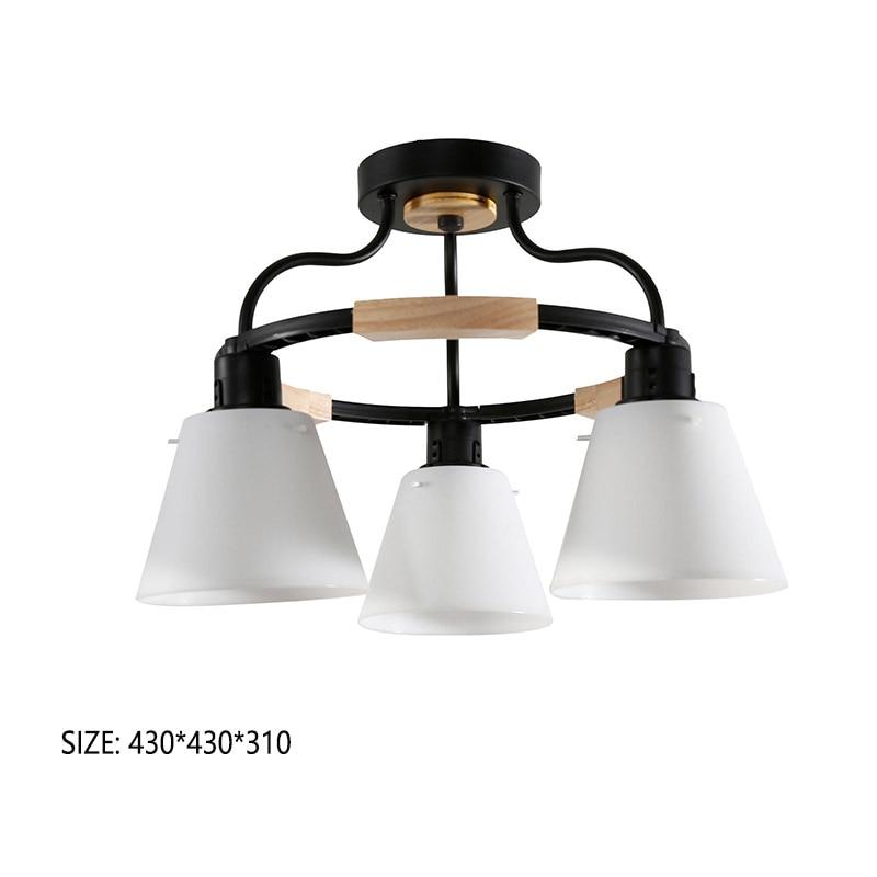 HTB1RcbzRYPpK1RjSZFFq6y5PpXaj Nordic LED Light Wooden Chandelier Lights E27 With PVC Lampshade For Living Room Lighting Fixtures 220V 110V Light