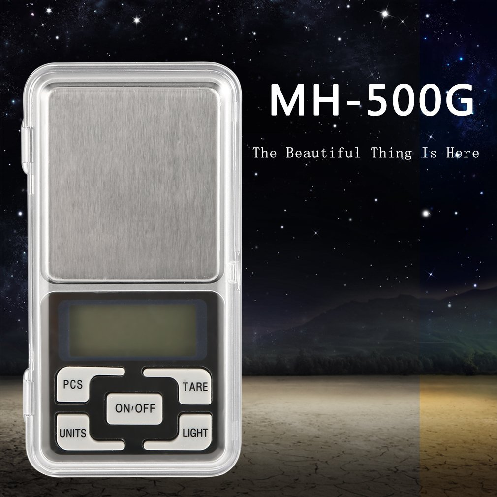 Stainless Steel 500g 0.1g Digital Electronic LCD Display Jewelry Mini Pockets Weight Scale Digital Scale Jewelry