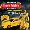 Control remoto BUMBLEBEE Autobots Juguetes Transformación de KidsChildren firgure acción Robot Coche