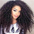 Peruvian 180% Density 360 Lace Front Wig For Black Women 3B 3C Kinky Curly Full Lace Human Hair Wig Lace Front Wig Bleached Knot
