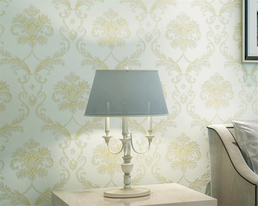 Beibehang Luxurious European Damascus Relief Classic embossed wallpaper for walls 3 d papel de parede wallpaper home decor