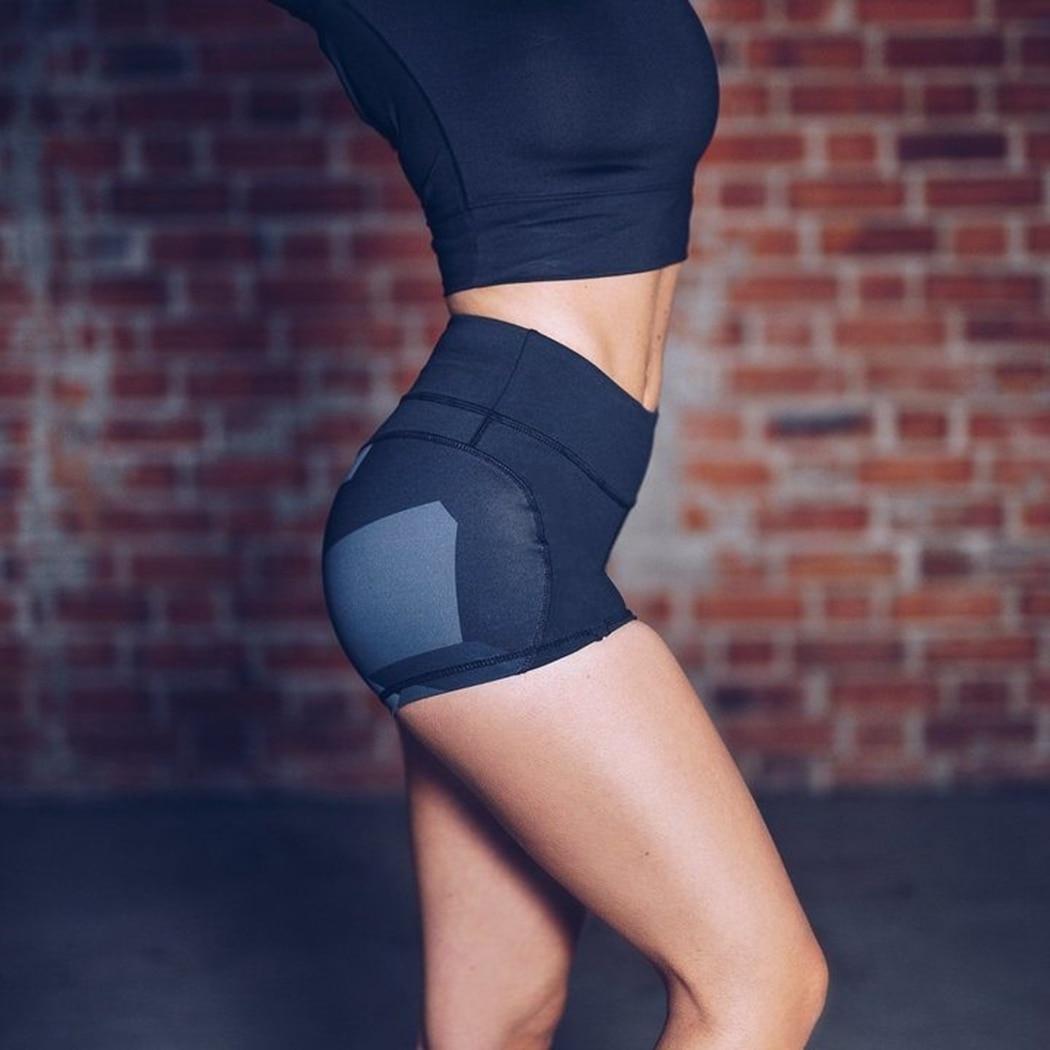 Sexy Push Up Shorts Women Hight Waist Cotton Fitness Shorts Skinny Elastic Shorts Workout Shorts Women Q4