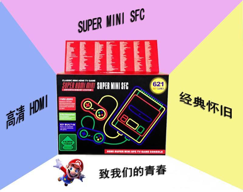 10 шт. HDMI супер мини ТВ Семья игровой консоли HDMI 8 бит Ретро игровая консоль встроенный 621 игры ручной игровой плеер