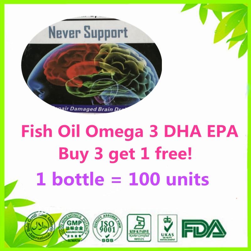 100% Original 100 unit Fish Oil Omega 3 DHA EPA (Buy 3 get 1 free) 100