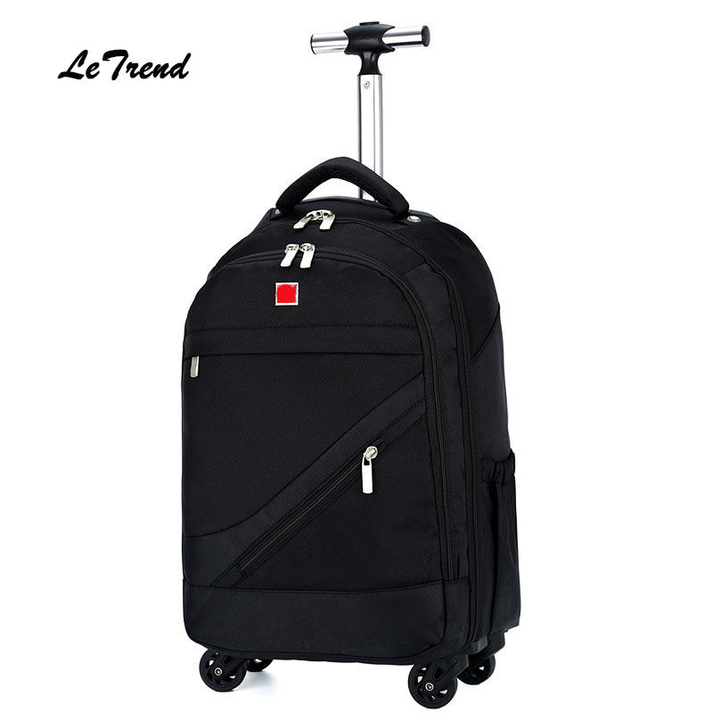 Letrend Business Oxford shoulder Travel Bag Large Capacity Backpack Rolling Luggage Spinner Trolley Suitcase Wheel hantek 6022bl pc usb oscilloscopes digital portable 2channels 20mhz bandwidth osciloscopio portatil 16channels logic analyzer