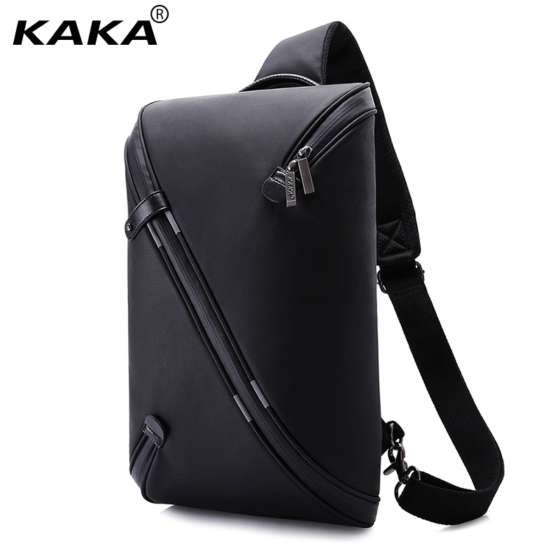 KAKA Brand Design Unisex Men Fashion Messenger Bags Expandable Chest Packs Waterproof Shoulder Bags Korean Women Bags for Ipad 2017 new unisex men messenger bag chest pack brand design korean and japan style simple women shoulder cross body bags for ipad