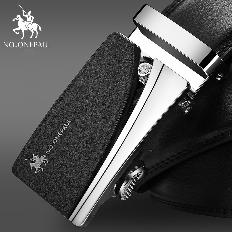 NO.ONEPAUL cowhide Leather Strap Designer Quality metal Belts Men High Luxury Jeans Waistband Men Belts Automatic buckle Belt