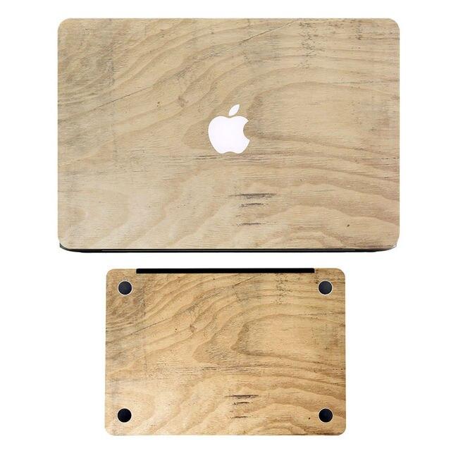 Древесина дуба Зерна Передней и Нижней Ноутбук Кожи Наклейка для MacBook Air/Pro/Retina 11 12 13 15 Защитные Полный Крышка Ноутбука наклейка