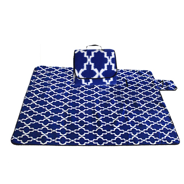 Outdoor Moistureproof Beach Blanket Mat Foldable Camping Mat Pad Picnic Mat Pad Blanket Indoor Baby Crawling Blanket Pad