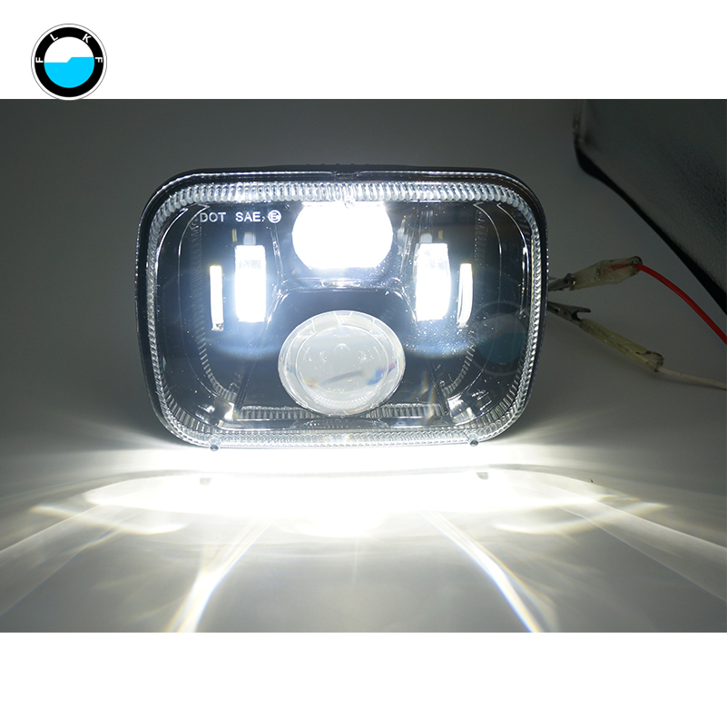 5x77x6 inch led truck lights for Jeep wrangler YJ Cherokee XJ H6054 H5054 H6054LL 69822 6052 5x7 led headlight.